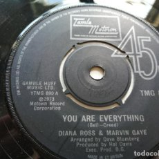 Discos de vinilo: DIANA ROSS & MARVIN GAYE – YOU ARE EVERYTHING SINGLE UK 1974 EX. Lote 261247970