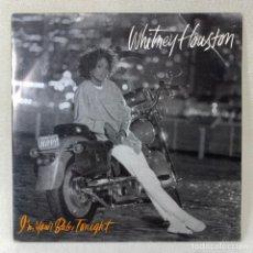 Discos de vinilo: SINGLE WHITNEY HOUSTON - I'M YOUR BABY TONIGHT - ESPAÑA - AÑO 1990. Lote 261255390