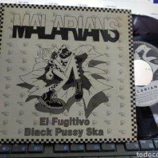 Discos de vinilo: MALARIANS SINGLE PROMOCIONAL EL FUGITIVO 1991 CARPETA DOBLE EN PERFECTO ESTADO. Lote 261256450