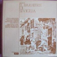 Dischi in vinile: BOX SET - ROSSINI - IL BARBIERE DI SIVIGLIA (CONTIENE 3 LP'S Y LIBRETO, SPAIN, DECCA 1975, VER FOTOS. Lote 261258250