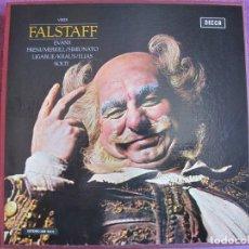 Discos de vinilo: BOX SET - VERDI - FALSTAFF (CONTIENE 3 LP'S Y LIBRETO, SPAIN, DECCA 1974, VER FOTOS ADJUNTAS). Lote 261258785