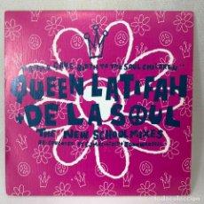 Discos de vinilo: SINGLE QUEEN LATIFAH + DE LA SOUL - MAMMA GAVE BIRTH TO THE SOUL CHILDREN (THE NEW SCHOOL MIXES). Lote 261263810