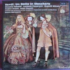 Discos de vinilo: BOX SET - VERDI - UN BALLO IN MASCHERA (CONTIENE 3 LP'S Y LIBRETO, SPAIN, DECCA 1972, VER FOTOS). Lote 261265430