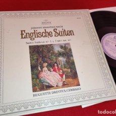 Discos de vinilo: BACH SUITES INGLESAS 1+2 BWV 806-807 ENGLISCHE SUITEN CEMBALO DREYFUS LP 1974 ARCHIV SPAIN ESPAÑA EX. Lote 261265470