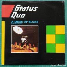 """Discos de vinilo: STATUS QUO - A MESS OF BLUES (EXTENDED EDITION) (12"""") (VERTIGO QUO 1212) (1983/UK). Lote 261266960"""