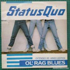"Discos de vinilo: STATUS QUO - OL' RAG BLUES (12"") (VERTIGO) QUO 1112 (1983/UK). Lote 261267120"