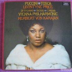 Discos de vinilo: BOX SET - PUCCINI - TOSCA (CONTIENE 2 LP'S Y LIBRETO, SPAIN, DECCA 1974, VER FOTOS). Lote 261268190