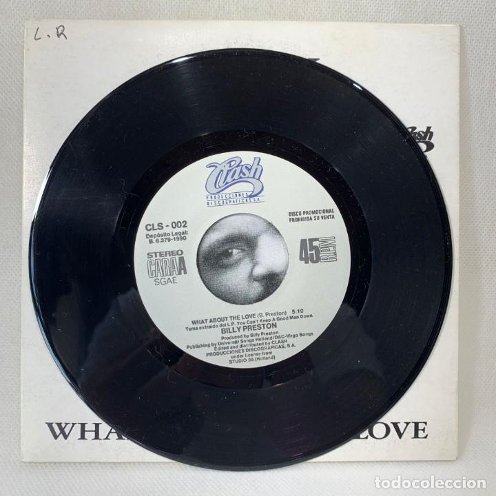 Discos de vinilo: SINGLE BILLY PRESTON - WHAT ABOUT THE LOVE - ESPAÑA - AÑO 1990 - Foto 2 - 261268215