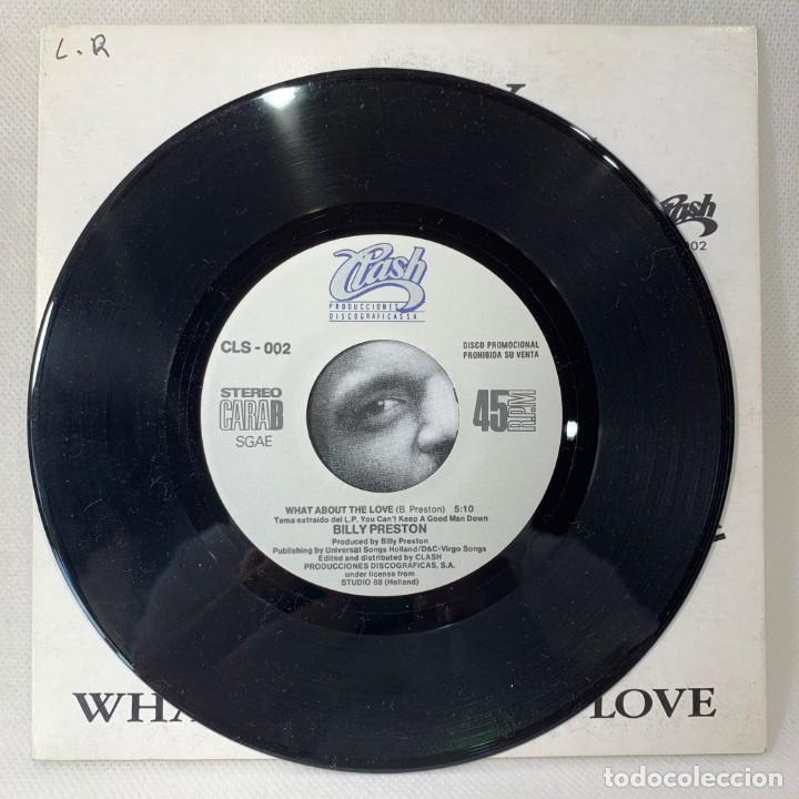Discos de vinilo: SINGLE BILLY PRESTON - WHAT ABOUT THE LOVE - ESPAÑA - AÑO 1990 - Foto 3 - 261268215