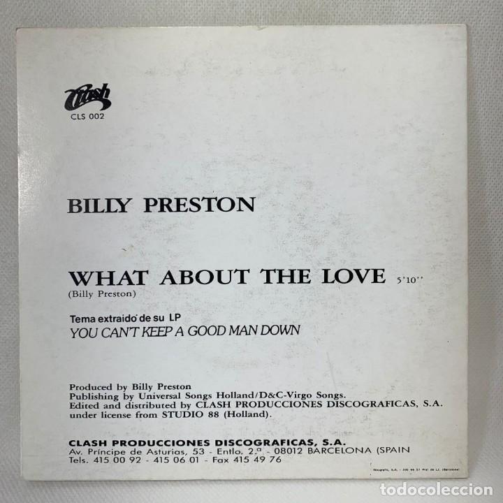 Discos de vinilo: SINGLE BILLY PRESTON - WHAT ABOUT THE LOVE - ESPAÑA - AÑO 1990 - Foto 4 - 261268215