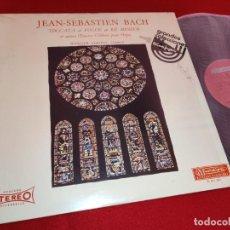 Discos de vinilo: WERNER SIMONS ORGAN BACH TOCCATA FUGUE 565/544/532 + PRELUDE CHORAL 729++ LP 1976 SPAIN EX. Lote 261269170