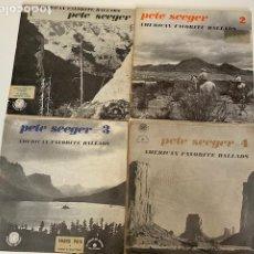 Discos de vinilo: PETE SEEGER,AMERICAN FAVORITE BALLADS 4 VINILOS VER FOTOS EDITADO EN FRANCIA,4,31 ENVÍO CERTIFICADO. Lote 261270485