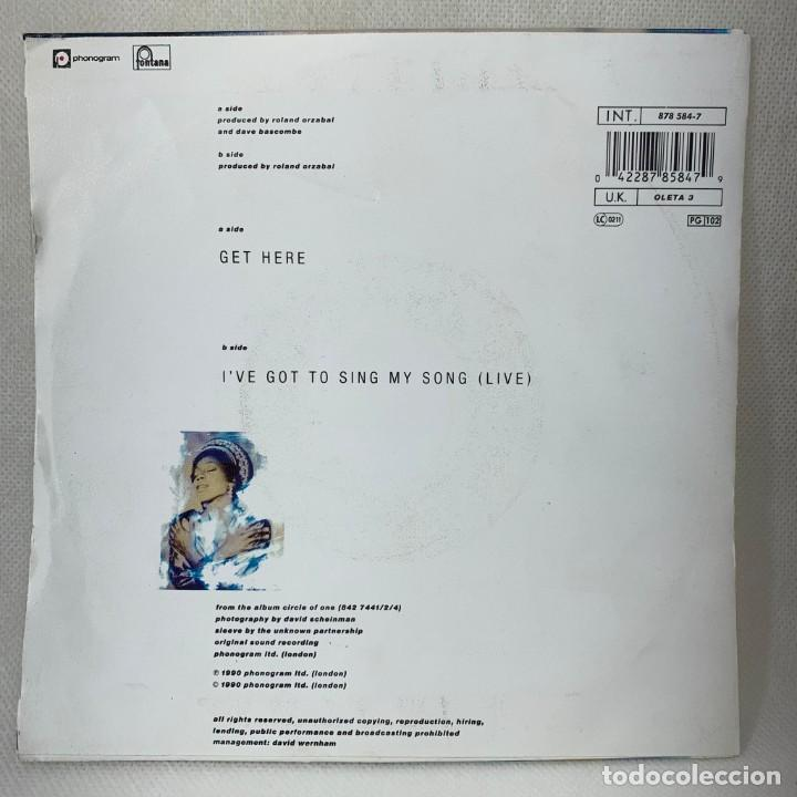 Discos de vinilo: SINGLE OLETA ADAMS - GET HERE - UK - AÑO 1990 - Foto 4 - 261271670