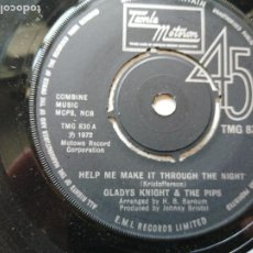 Discos de vinilo: GLADYS KNIGHT AND THE PIPS – HELP ME MAKE IT THROUGH THE NIGHT SINGLE UK 1972 FUNK EX. Lote 261273415