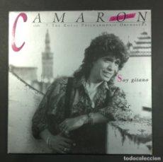 Discos de vinilo: CAMARON DE LA ISLA - SOY GITANO - LP CON ENCARTE 1989 - PHILIPS. Lote 261274480