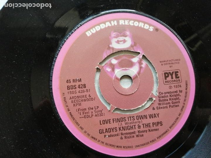 Discos de vinilo: Gladys Knight And The Pips – The Way We Were / Try To Remember Single UK 1974 Funk EX - Foto 2 - 261274820