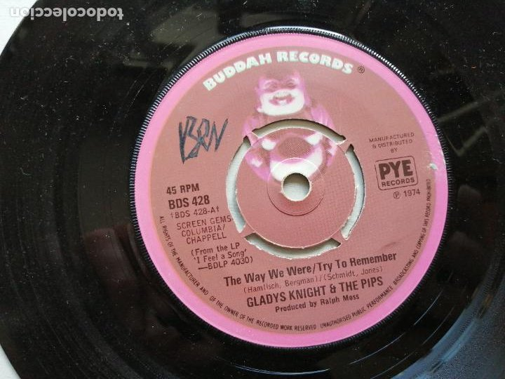 GLADYS KNIGHT AND THE PIPS – THE WAY WE WERE / TRY TO REMEMBER SINGLE UK 1974 FUNK EX (Música - Discos - Singles Vinilo - Funk, Soul y Black Music)