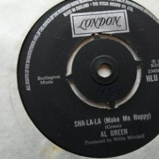 Discos de vinilo: AL GREEN – SHA-LA-LA (MAKE ME HAPPY) SINGLE UK 1974 VG++. Lote 261276140