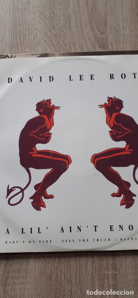 DAVID LEE ROTH A LIL, AIN,T ENOUGH 3 TEMAS MAXI (Música - Discos de Vinilo - Maxi Singles - Heavy - Metal)