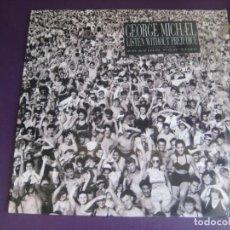 Disques de vinyle: GEORGE MICHAEL – LISTEN WITHOUT PREJUDICE VOL. 1 - LP EPIC 1990 - ELECTRONICA DISCO POP 80'S 90'S. Lote 261284310