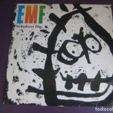 Discos de vinilo: EMF – SCHUBERT DIP - LP PARLOPHONE 1991 - ELECTRONICA INDIE POP ROCK 90'S - LEVE USO. Lote 261290785