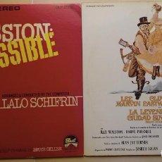 Discos de vinilo: BANDAS SONORAS DE MISION IMPOSIBLE (LA SERIE ORIGINAL DE TV) Y DE LA LEYENDA DE LA CIUDAD SIN NOMBRE. Lote 261291660