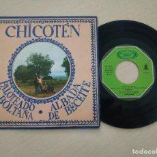 Discos de vinilo: CHICOTEN - PALOTEADO DE BOLTAÑA - RARO SINGLE DE VINILO DE 1979 PROGRESIVO ESTADO COMO NUEVO. Lote 261295480