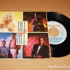 Discos de vinilo: OLE OLE Y MARTA SANCHEZ - SOLA - SINGLE - 1987. Lote 261304880
