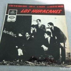 Discos de vinilo: LOS HURACANES - LO QUE TU ME HACES SENTIR -EL CALCETIN + 2 - SPAIN EP 1966 -- BEAT/GARAGE - DIFICIL. Lote 261326090