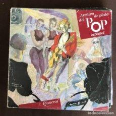Discos de vinilo: ARCHIVO DE PLATA DEL POP ESPAÑOL - LP DOBLE - PIONEROS - MICKY Y LOS TONYS, DÚO DINÁMICO. Lote 261331035