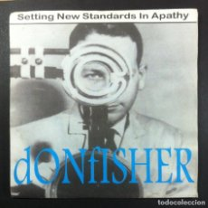 Discos de vinilo: DONFISHER - SETTING NEW STANDARDS IN APATHY - EP UK 1996 33RPM - CRACKLE. Lote 261343570