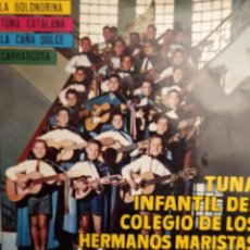 Discos de vinilo: TUNA INFANTIL COLEGIO MARISTAS SANTS: LA GOLONDRINA, TUNA CATALANA, LA CAÑA DULCE +1 BELTER 1964. Lote 261353505