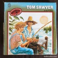 Discos de vinilo: TOM SAWYER DE MARK TWAIN - LP DOBLON SPAIN 1980 - SERIE GRANDES AVENTURAS 10. Lote 261357760