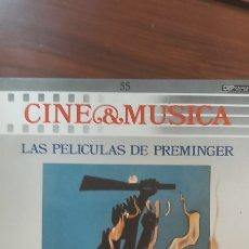 Discos de vinilo: BSO-LAS PELICULAS DE PREMINGER (CINE Y MUSICA 55) LP 1987 SPAIN. Lote 261353705