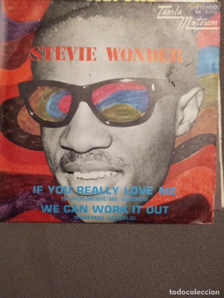STEVIE WONDER: IF YOU REALLY LOVE ME, WE CAN WORK IT OUT BEATLES, LENNON -MCCARTNEY ED.ESPAÑA-1971 (Música - Discos - Singles Vinilo - Funk, Soul y Black Music)