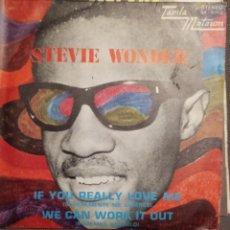 Discos de vinilo: STEVIE WONDER: IF YOU REALLY LOVE ME, WE CAN WORK IT OUT BEATLES, LENNON -MCCARTNEY ED.ESPAÑA-1971. Lote 261359365