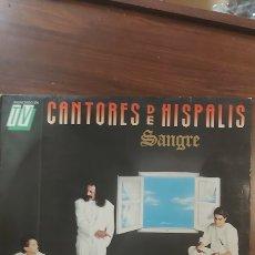 Discos de vinilo: LP - SEVILLANAS - CANTORES DE HISPALIS - SANGRE (HISPAVOX 1989). Lote 261366095
