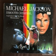 Discos de vinilo: MICHAEL JACKSON - SMOOTH CRIMINAL - 12'' MAXISINGLE EPIC SPAIN 1988. Lote 261521750
