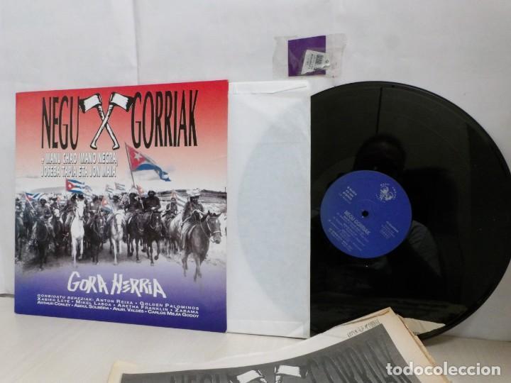 NEGU GORRIAK --GORA HERRIA -PERIDIODICO GORA HARRIA TOUR 91-COMPLETO -IRUN- ESAN OBEKI RECORDS- 1991 (Música - Discos - LP Vinilo - Punk - Hard Core)