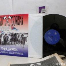 Discos de vinilo: NEGU GORRIAK --GORA HERRIA -PERIDIODICO GORA HARRIA TOUR 91-COMPLETO -IRUN- ESAN OBEKI RECORDS- 1991. Lote 261545175