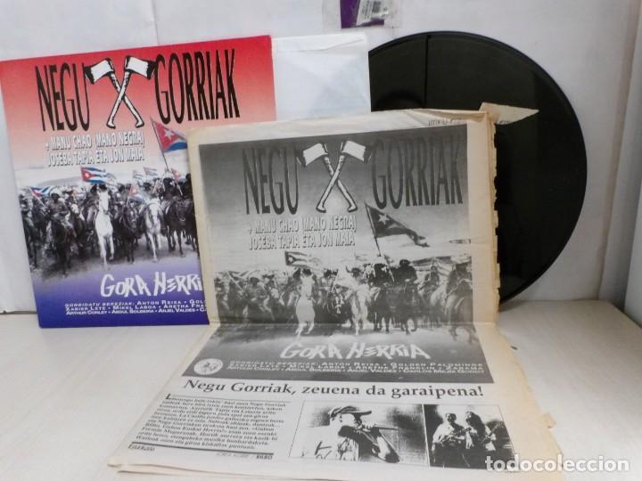 Discos de vinilo: NEGU GORRIAK --GORA HERRIA -PERIDIODICO GORA HARRIA TOUR 91-COMPLETO -IRUN- ESAN OBEKI RECORDS- 1991 - Foto 4 - 261545175