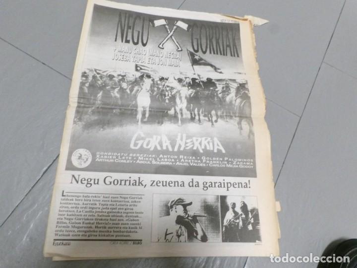 Discos de vinilo: NEGU GORRIAK --GORA HERRIA -PERIDIODICO GORA HARRIA TOUR 91-COMPLETO -IRUN- ESAN OBEKI RECORDS- 1991 - Foto 5 - 261545175