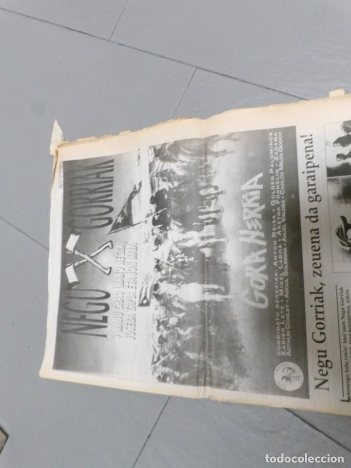 Discos de vinilo: NEGU GORRIAK --GORA HERRIA -PERIDIODICO GORA HARRIA TOUR 91-COMPLETO -IRUN- ESAN OBEKI RECORDS- 1991 - Foto 6 - 261545175