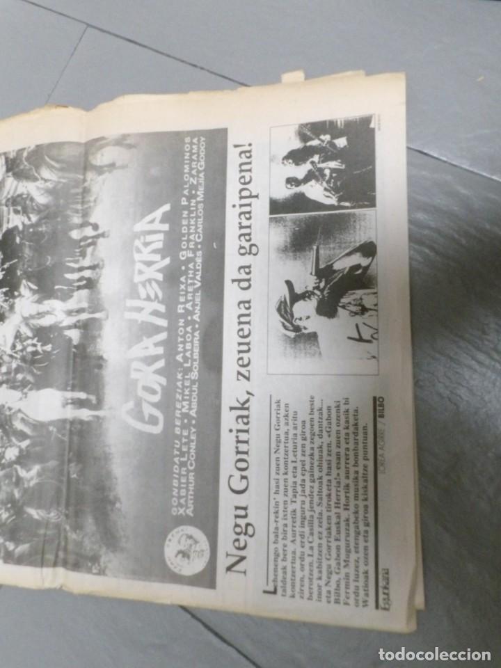 Discos de vinilo: NEGU GORRIAK --GORA HERRIA -PERIDIODICO GORA HARRIA TOUR 91-COMPLETO -IRUN- ESAN OBEKI RECORDS- 1991 - Foto 7 - 261545175