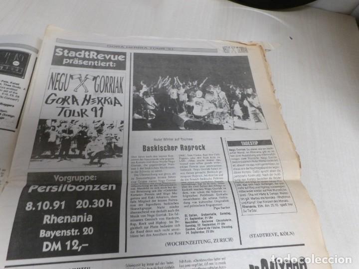 Discos de vinilo: NEGU GORRIAK --GORA HERRIA -PERIDIODICO GORA HARRIA TOUR 91-COMPLETO -IRUN- ESAN OBEKI RECORDS- 1991 - Foto 8 - 261545175