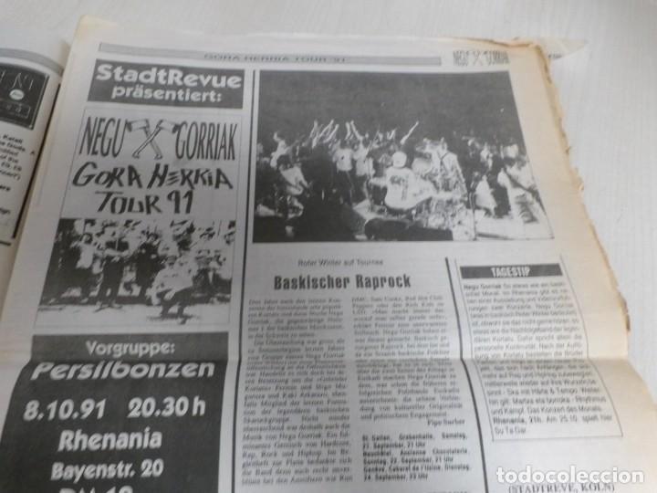 Discos de vinilo: NEGU GORRIAK --GORA HERRIA -PERIDIODICO GORA HARRIA TOUR 91-COMPLETO -IRUN- ESAN OBEKI RECORDS- 1991 - Foto 10 - 261545175