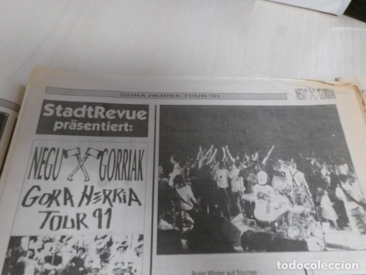 Discos de vinilo: NEGU GORRIAK --GORA HERRIA -PERIDIODICO GORA HARRIA TOUR 91-COMPLETO -IRUN- ESAN OBEKI RECORDS- 1991 - Foto 11 - 261545175