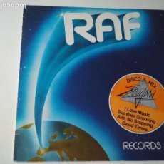 Discos de vinilo: AIN'T NO STOPPING US, DISCO MIX 81, RAF RECORDS, ED ESPAÑOLA 1981. Lote 261547475