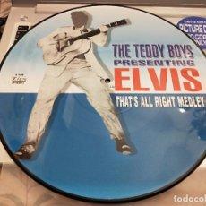 "Discos de vinilo: THE TEDDY BOYS-THE TEDDY BOYS PRESENTING ELVIS-THAT'S ALL RIGHT MEDLEY(12"",LTD,PIC)BUEN ESTADO NM/NM. Lote 261558280"
