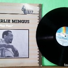 Discos de vinilo: CHARLIE MINGUS . MINGUS PLAYS PIANO LIMPO, TRATADO CON ALCOHOL ISOPROPÍLICO. Lote 261571700